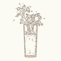 Ilustrazione di un bicchiere d'acqua
